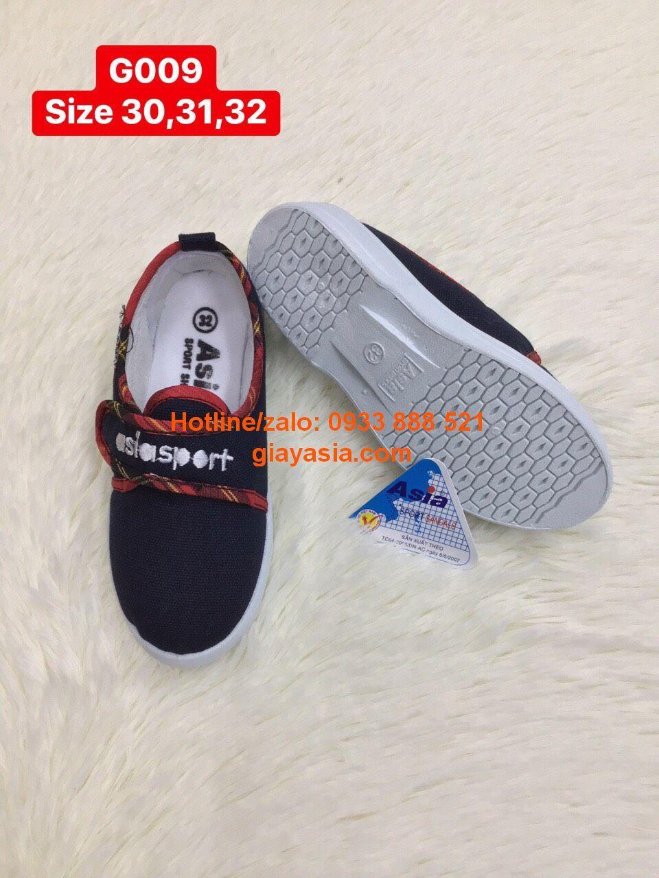 Giày asia dán nam xanh