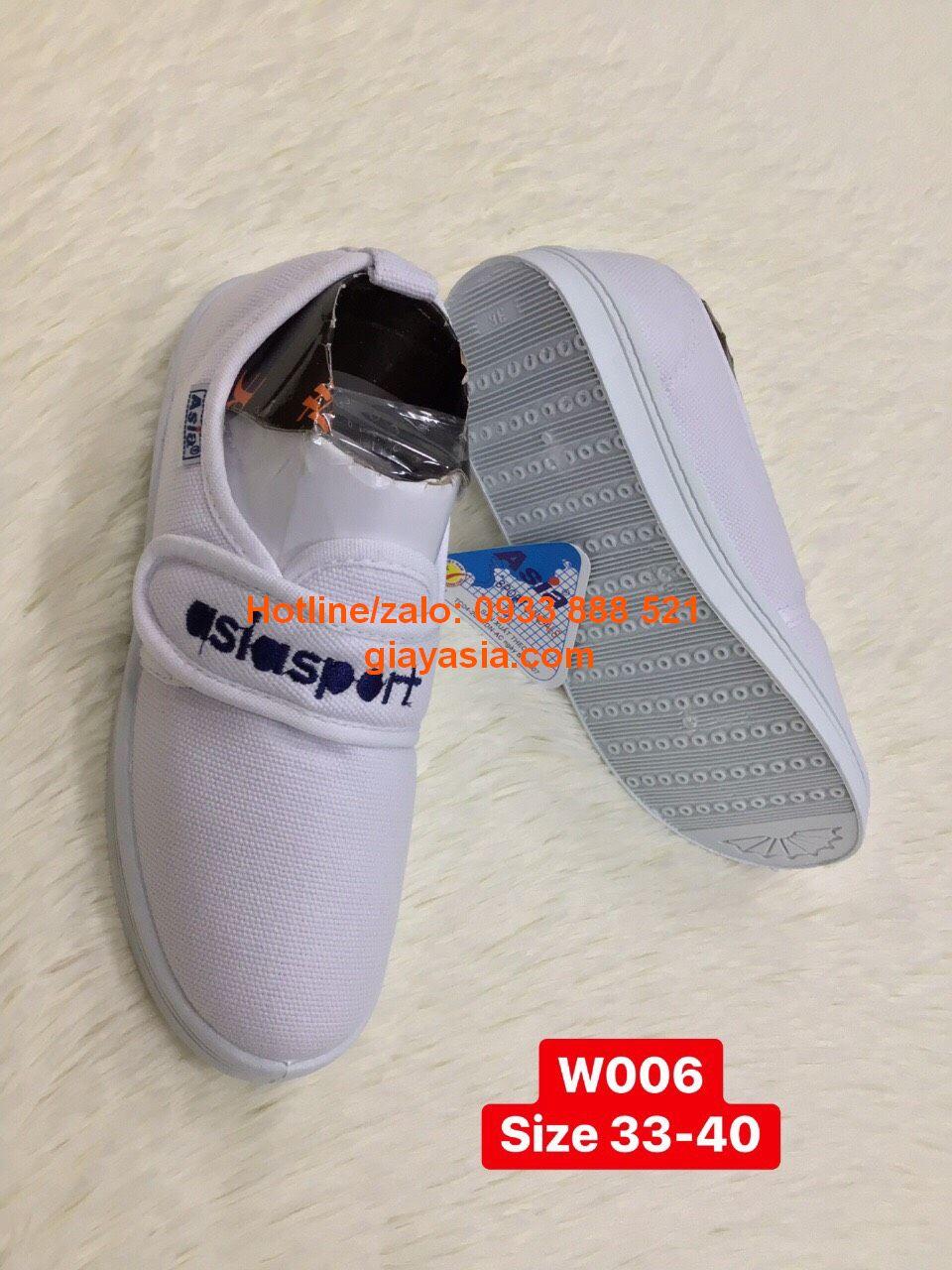Giày asia dán nữ trắng