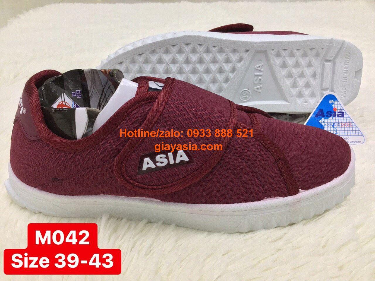 Giày asia quai dán 3 màu