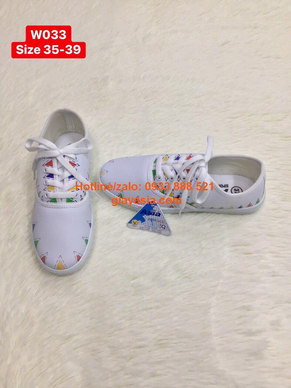 Giày asia si nữ có in họa tiết