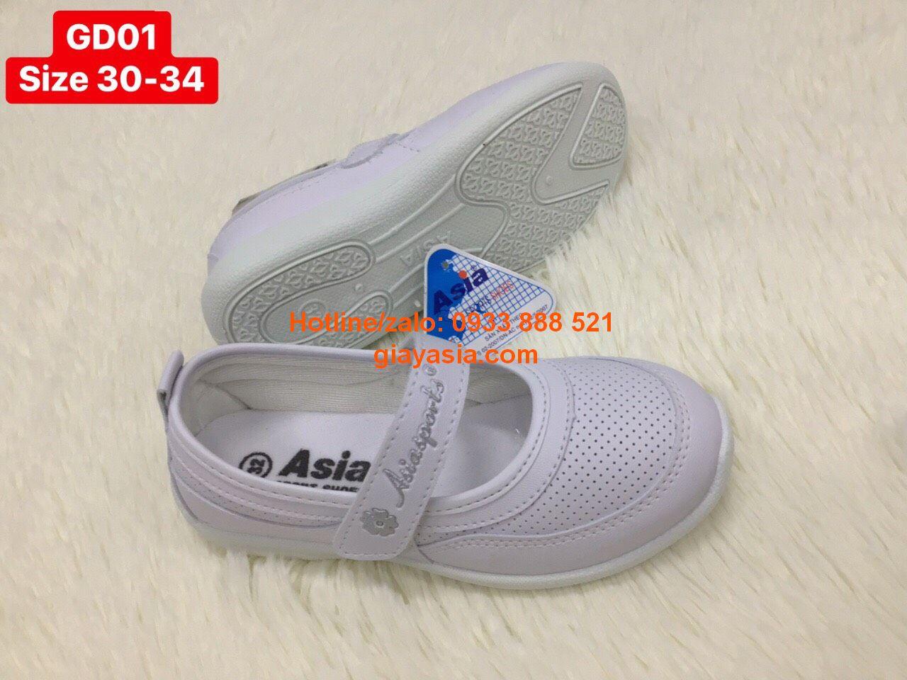 Giày asia thời trang nhí quai dán