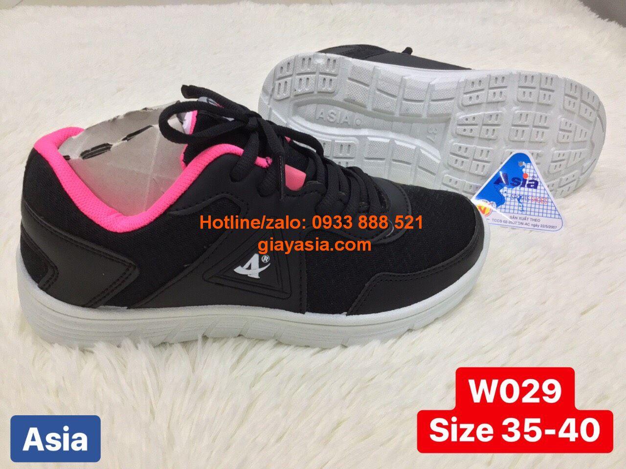 Giày asia thời trang nữ màu đen