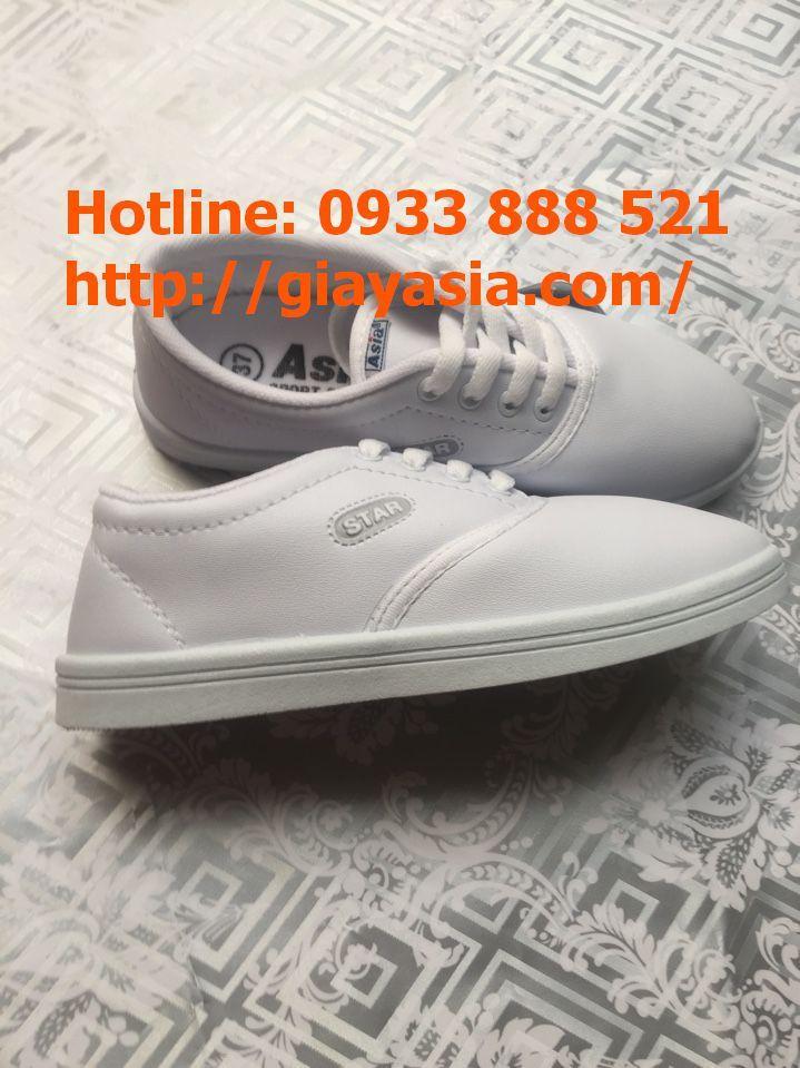 Giày asia thời trang nữ nhí trắng