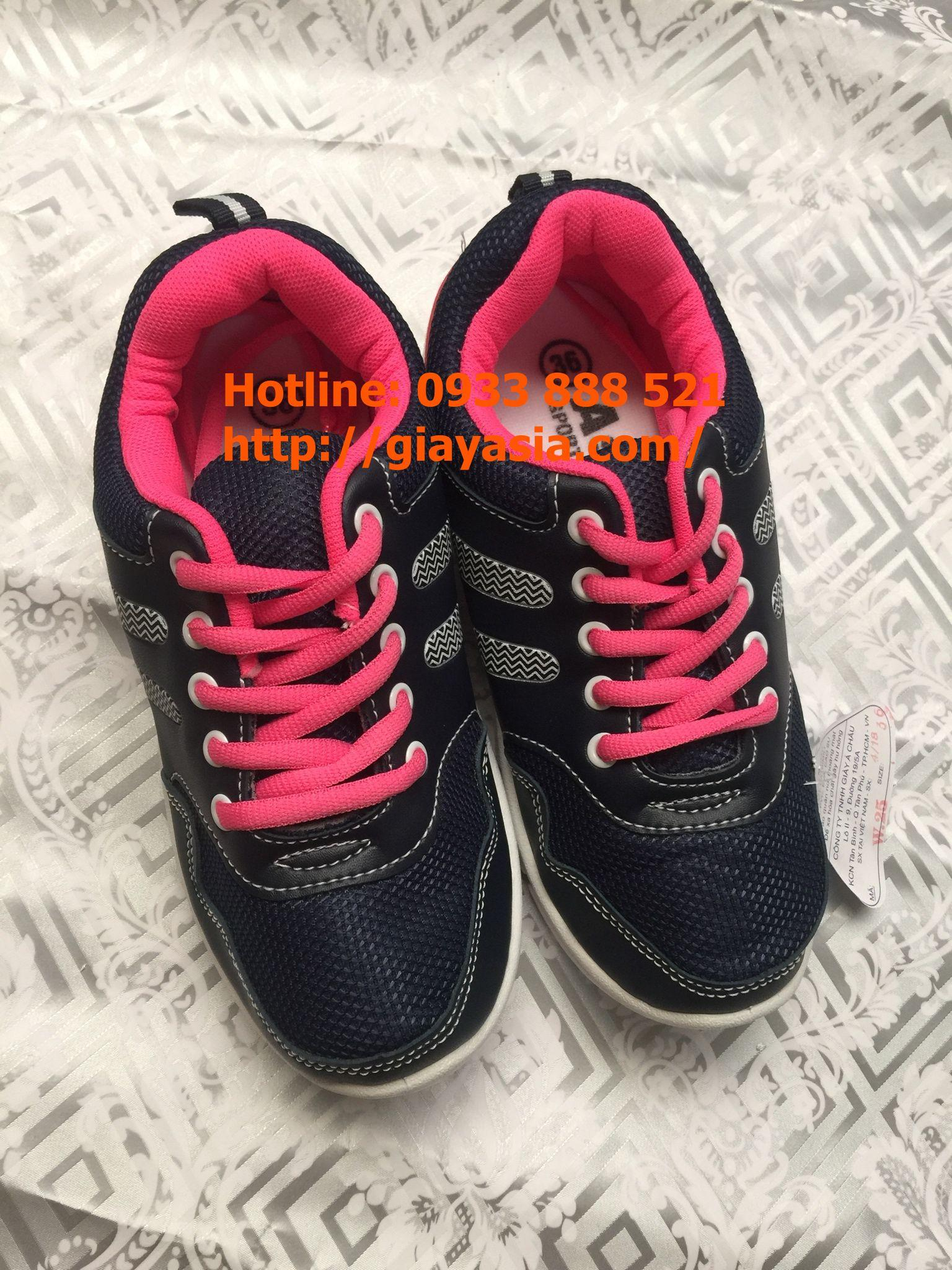 Giày asia thời trang nữ xanh hồng