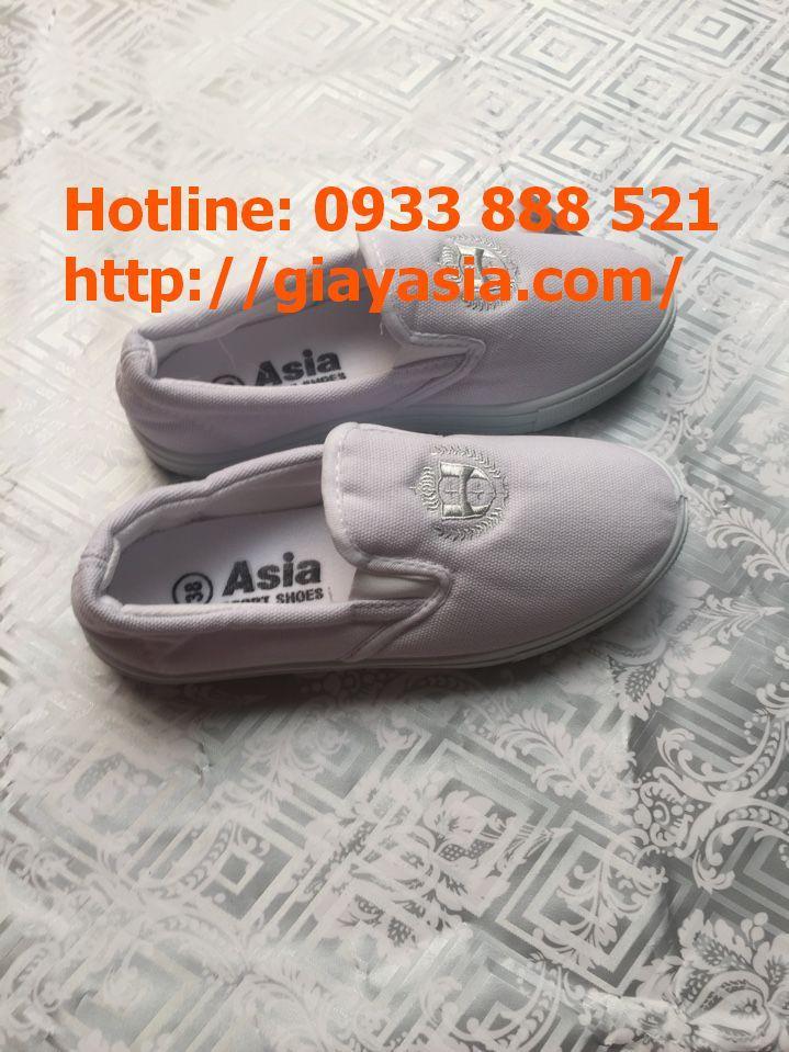 Giày lười asia nam trắng