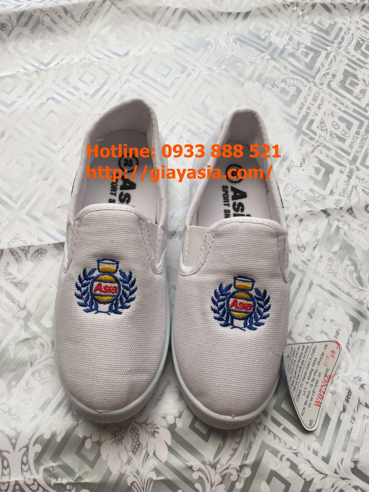 Giày lười asia nữ trắng
