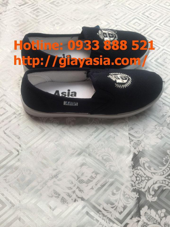 Giày lười asia nữ xanh