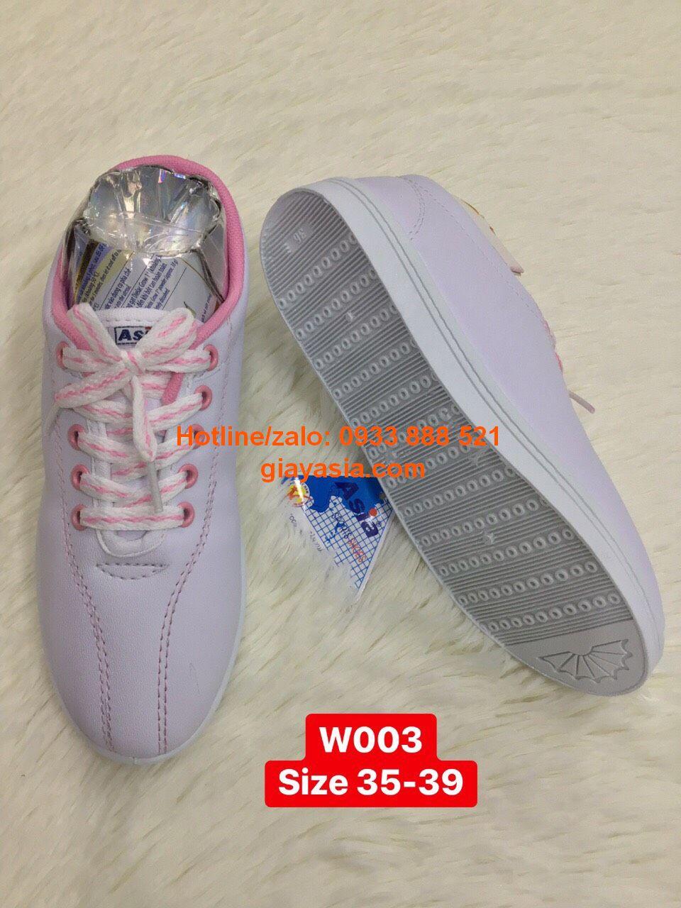 Giày thể thao asia trắng hồng