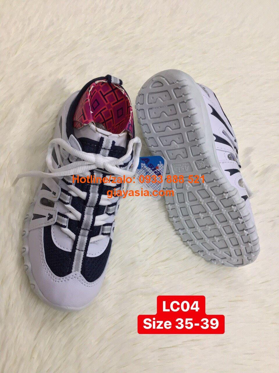 Giày thể thao asia trắng xanh